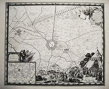 Bourbourg Flandern Frankreich France Belagerung 1645 alter  Kupferstich 1698