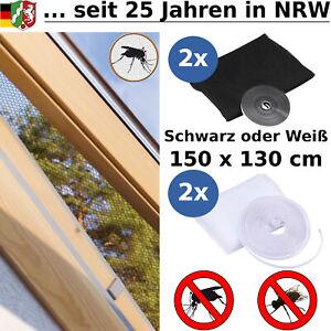 Fliegengitter Insektenschutz Mückenschutz Fenster und Dachfenster 130 x 150 cm