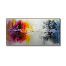YA1724 HOME DECOR 100% HAND-PAINTED ABSTRACT LANDSCAPE CANVAS OIL PAINTING