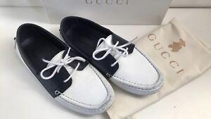 GUCCI Kinder Loafers/Schuhe, Weiß/Blau, Gr. 32