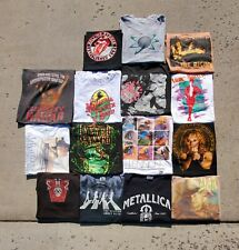 VINTAGE ROCK BAND Shirt Lot 15 Items 80s 90s Y2K Lynyrd Skynyrd Lennon Metallica