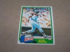 TORONTO BLUE JAYS ALVIS WOODS 1981 TOPPS #703