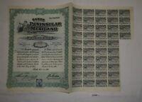 100 Peso Aktie Banco Peninsular Mexicano Mérida 1. Juli 1908 (127044)