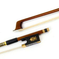Full Size 4/4 Violin Bow Pernambuco Wood Ebony Frog Horse Hair for Beginner Gift