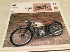 Carte moto Dax D 100 Baby 1935 collection Atlas Motorcycle France