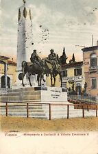 5898) FIESOLE (FIRENZE) MONUMENTO A GARIBALDI E VITTORIO EMANUELE II. RISTORANTE