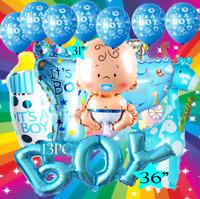 13PC ITS A BABY BOY SHOWER 1ST NEWBORN BALLOON balloons BIRTHDAY PARTY SUPPLY