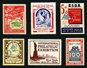 1926-1961 Assorted National & Int'l Philatelic Expo Cinderella Issues MNH
