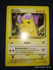 Pokémon Karte Pikachu 1. Edition Base Set 58/102 Deutsch Mint PSA 10 ? TCG Mint