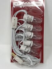 Holiday Time Christmas 5-Bulb Accessory Village Light Cord 10 Foot