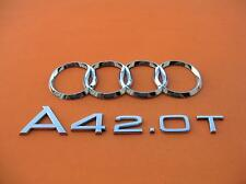 05 06 07 08 AUDI A4 2.0 T REAR LID CHROME EMBLEM LOGO BADGE SIGN OEM USED SET #5