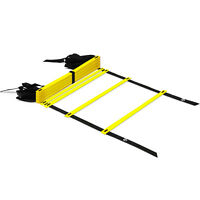Yes4All Speed Agility Ladder with Carry Bag - Adjustable 12 Rung (Yellow)