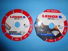 "LENOX DIAMOND EDGE CUTTING DISC LENOX METALMAX 5"" 125mm  FAST DELIVERY (1972922)"