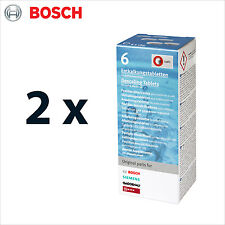 2 x Genuine Bosch Descaling Tablets for Coffee Machines - 6 tabs - 311556