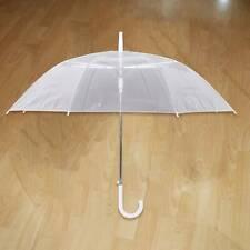 Paraguas transparente transparente golf automático acompañante paraguas grande