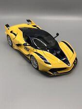 Ferrari FXX K Yellow/Blue 1:18 Model Car Maisto Special Edition, New Bburago