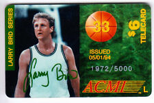 NBA Boston Celtics Larry Bird #33 PHONECARD Larry Bird Series 1972/5000 ACMI