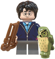 Harry Potter with Hedwig Owl Hogwarts Wizard Fantasy Toy Custom Lego Mini Figure
