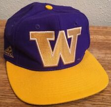 Vintage Washington Huskies Apex One 90s College University Snapback Hat Varsity