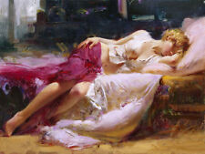 """Pino """"Dreaming in Color"""" Hand Signed/# LE Giclee Canvas  Pcoa ed. 500 size 15x20"""