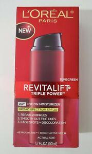 L'Oreal Revitalift Triple Power Day Lotion Moisturizer SPF 20 NEW IN BOX