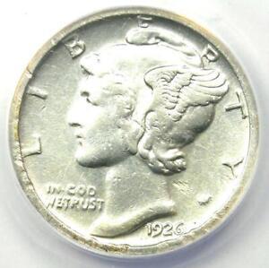 1926-S Mercury Dime 10C - Certified ANACS AU55 Details - Rare Date Coin!