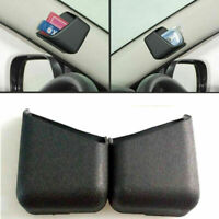 2x Universal Black Phone Organizer Storage Bag Box Holder Top Car Accessories