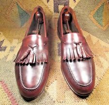 Frank Brothers by Johnston & Murphy Brown Tassel Killtie Leather Loafers 10.5 M