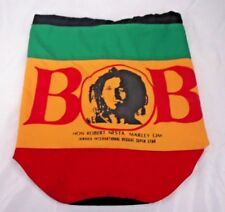 Bob Marley Jamaica International Reggae Super Star Circular Drawstring Tote Bag