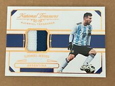 2018 National Treasures #14/35 LIONEL MESSI Material Treasures Jersey Relic