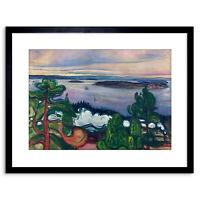 Painting Landscape Painting Edvard Munch Train Smoke Framed Art Print 9x7 Inch