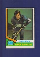Paulin Bordeleau RC 1974-75 O-PEE-CHEE OPC Hockey #340 (EX) Vancouver Canucks