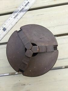 """Three Jaw Crown Lathe Chuck with backplate 4 1/4"""""""