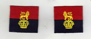 WORLD WAR 2 WAR OFFICE CONTROLLED UNITS CLOTH FORMATION SIGN/BADGE FACING PAIRS