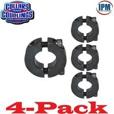 "4-PACK!  5/8""  Double Split 2-PC Clamp Shaft Collar, Steel Black Oxide CCI622S"