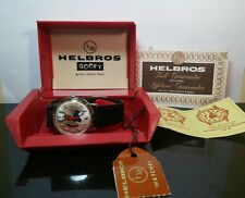 Vintage 1971 Helbros Backward Running Goofy Watch Original Box & Papers Disney