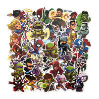 250pcs Cartoon Super Hero Graffiti Sticker Skateboard Luggage Laptop Decal Set