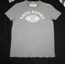 Men Abercrombie & Fitch  Grey Football Muscle T- Shirt Size S