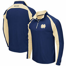 NOTRE DAME~MEN'S HEATHERED NAVY FIGHTING IRISH~J.PETERMAN QUARTER-ZIP PULLOVER