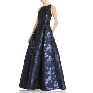 Aidan Mattox Womens Metallic Printed Formal Evening Dress Gown BHFO 6359