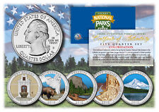 2010 America The Beautiful COLORIZED Quarters U.S. Parks 5-Coin Set w/Capsules