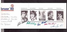 SWITZERLAND 1982 WORLD SKIING CHAMPIONSHIP AUTOGRAPHED CARD BY 5 TEAM'S MEMBERS