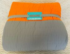 Crate & kids Little Prints Orange Twin Bed Quilt by Crate & Barrel