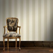 Boutique Ivory / Taupe Water Silk Stripe Wallpaper