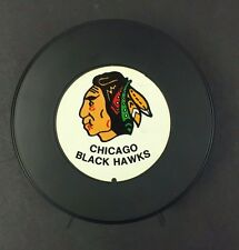 1970's  Chicago Black Hawks Hockey PUCK BANK  NHL Logo Vintage Sports Rare
