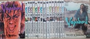 Vagabond 17 Volumes by Takehiko Inoue Manga in English Graphic Novel New Lot