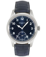 Montblanc 1858 Blue Dial Manual Wind Men's Watch 113702