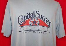 Vintage CAPITAL SOCCER CLUB Austin Texas 50/50 T-SHIRT XL Lone Stars RARE Vtg