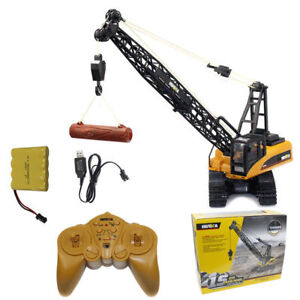1:14 2.4G 15CH Remote Control Engineering Truck Heavy Crane Vehicle Car Kids Toy