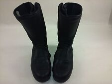 Black Leather BMW Vera Bromma Racing Motorcycle Boots Made in Italy 0101010